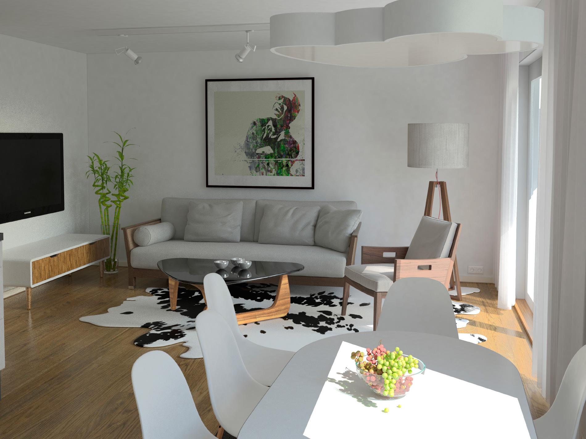 Sentrum Terrasse - visualisering stue