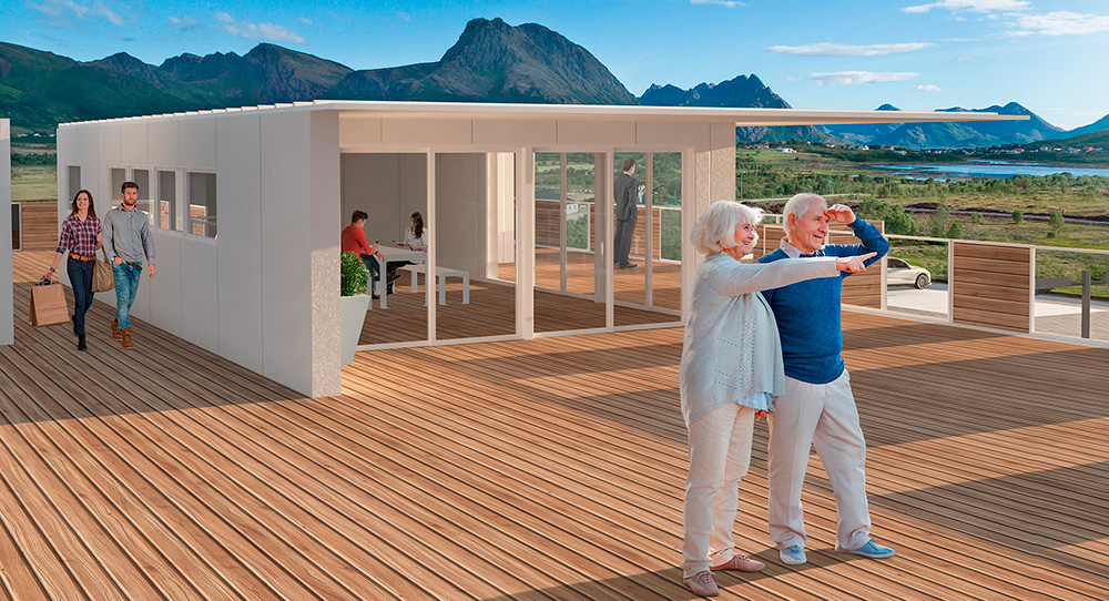 Sentrum terrasse - visualisering
